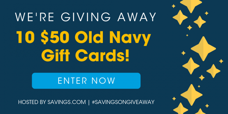 Enter to Win The Old Navy #SavingsONGiveaway Gift Card Giveaway!
