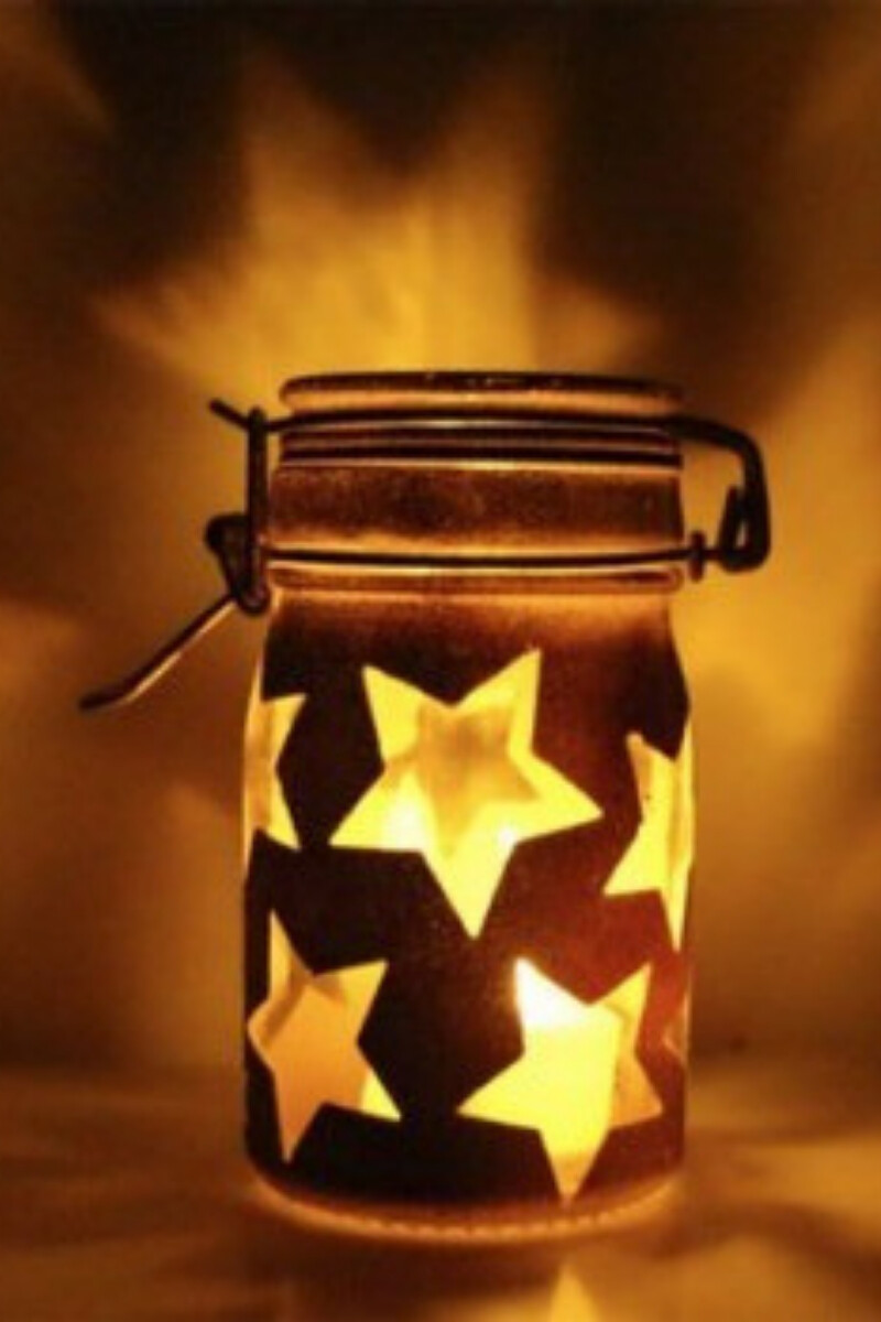diy star jar light