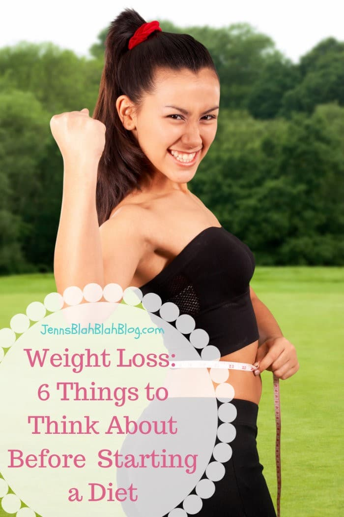 Weight Loss 6 things to think about before dieting
